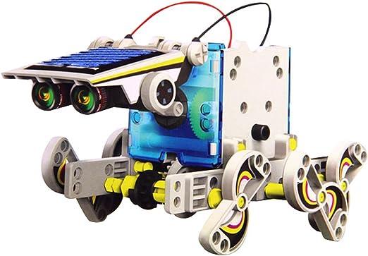 wortek Robot para Niños Solar Robot 14 en 1 Kit DIY Diseño Buzón para el Aprendizaje y Conjeturas fotovoltaico Robótica de Montar ecológico Juguete solarbetriebenes Toy a Partir de 8 Años: Amazon.es: Electrónica