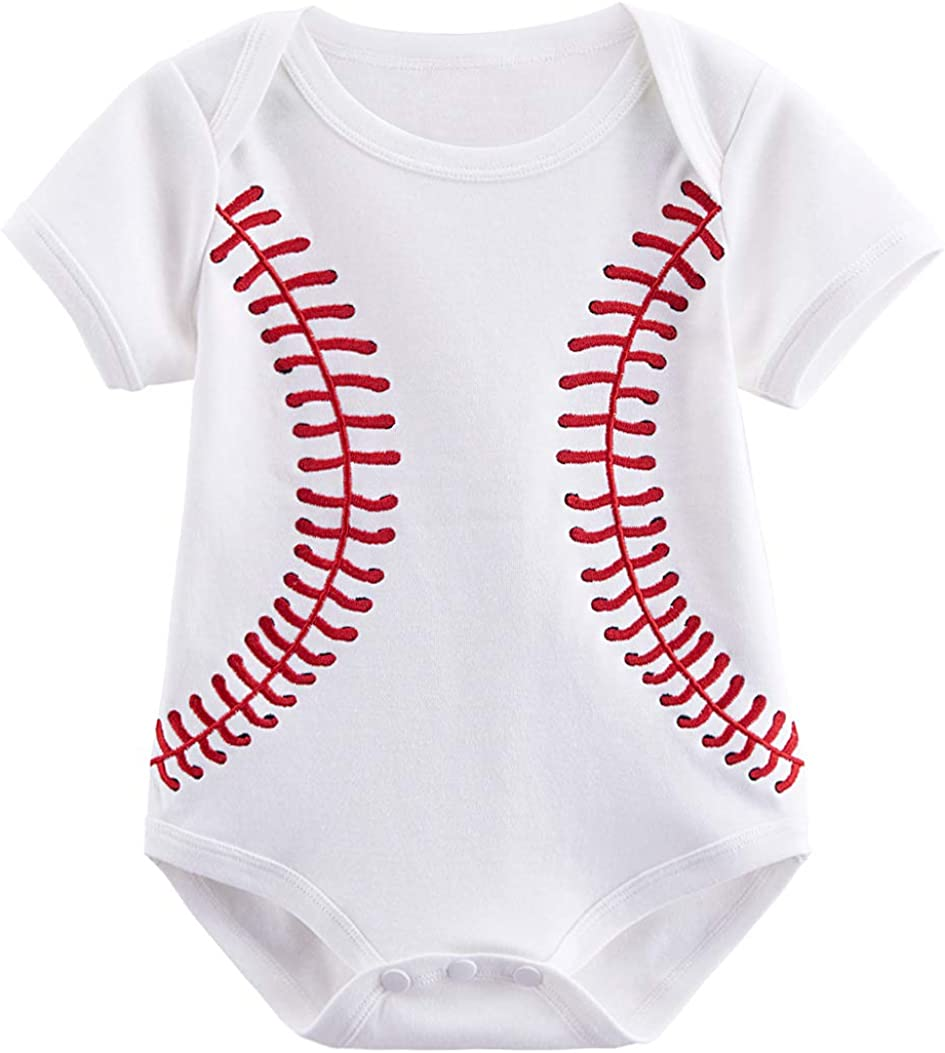 COSLAND Infant Baby Boys' Cotton Sport Casual Bodysuit