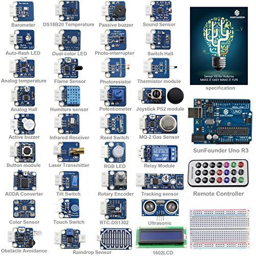 SunFounder Ultimate UNO R3 Sensor Kit V2.0 for Arduino UNO R3 Mega2560 Mega328 Nano - Including 98 Page Instructions Book