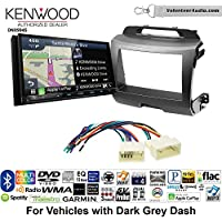 Volunteer Audio Kenwood Excelon DNX994S Double Din Radio Install Kit with GPS Navigation Apple CarPlay Android Auto Fits 2011-2014 Kia Sportage (Dark Grey)