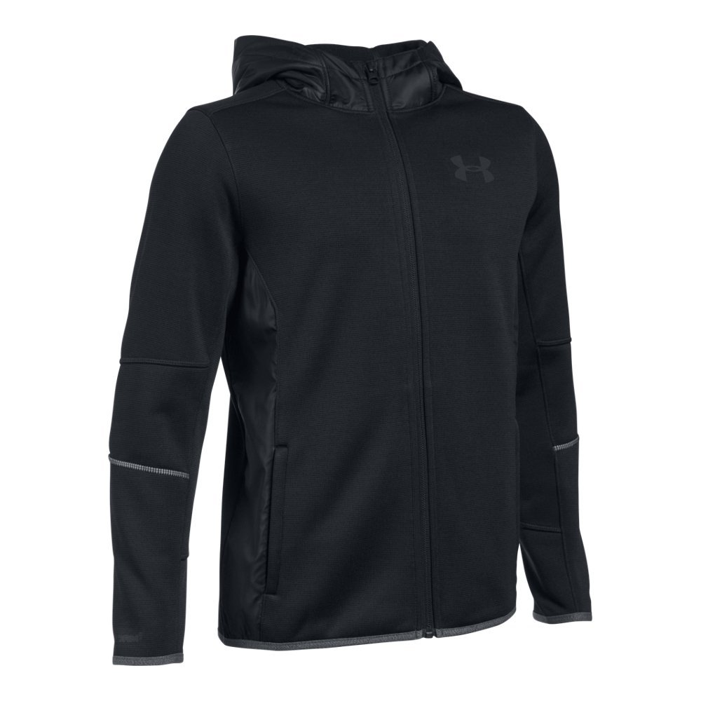 Under Armour Boys' Swacket FZ, Black/Black, Youth X-Small