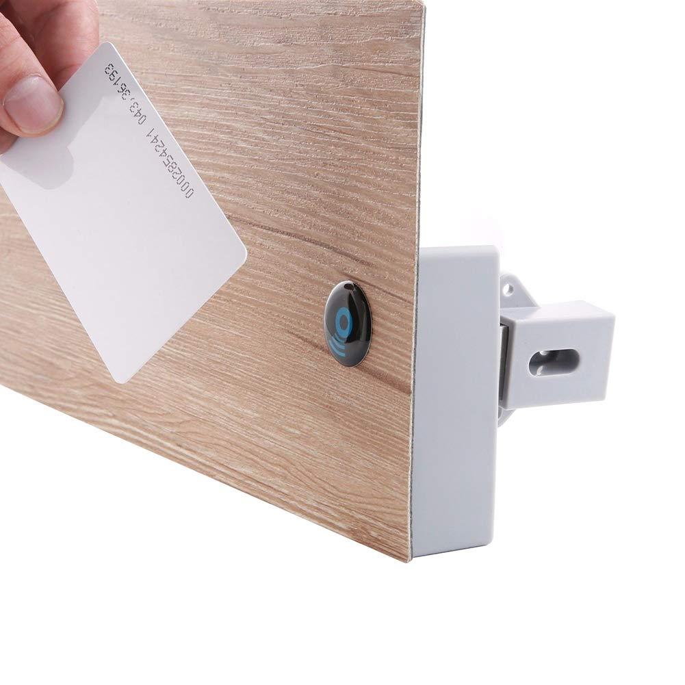 periwinkLuQ - Bloqueo de Seguridad Digital para Armario, RFID de inducció n, Bloqueo de Seguridad Oculto para Armario o cajó n RFID de inducción Bloqueo de Seguridad Oculto para Armario o cajón
