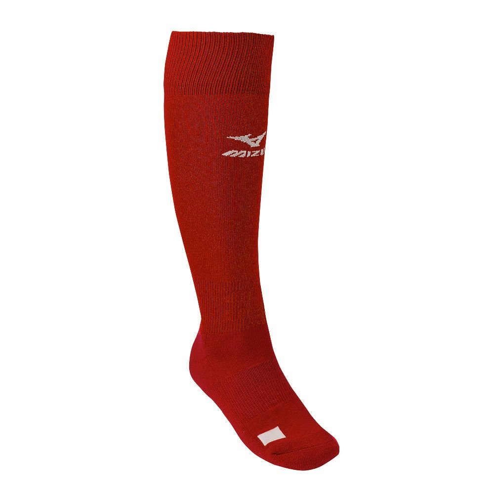 Red Adult Mizuno Performance Athletic Socks (All Sports: Baseball, Softball, Football, Soccer, Volleyball, Lacrosse)