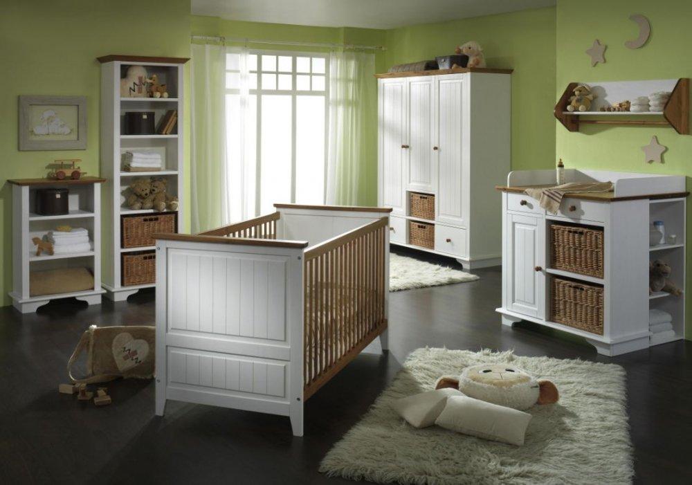 JAMIE Kleiderschrank 3trg Kiefer Massiv/weiß Lackiert: Amazon.de: Küche U0026  Haushalt