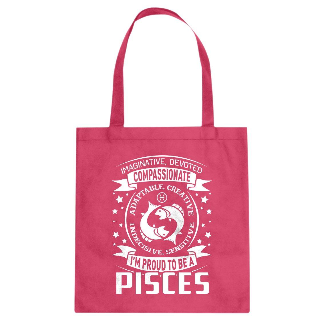 Indica Plateau Pisces Astrology Zodiac Sign Cotton Canvas Tote Bag