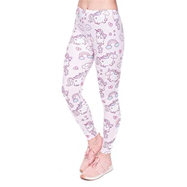 Pantalones De Yoga Chic Ropa tee Mujeres Legging Unicorns ...
