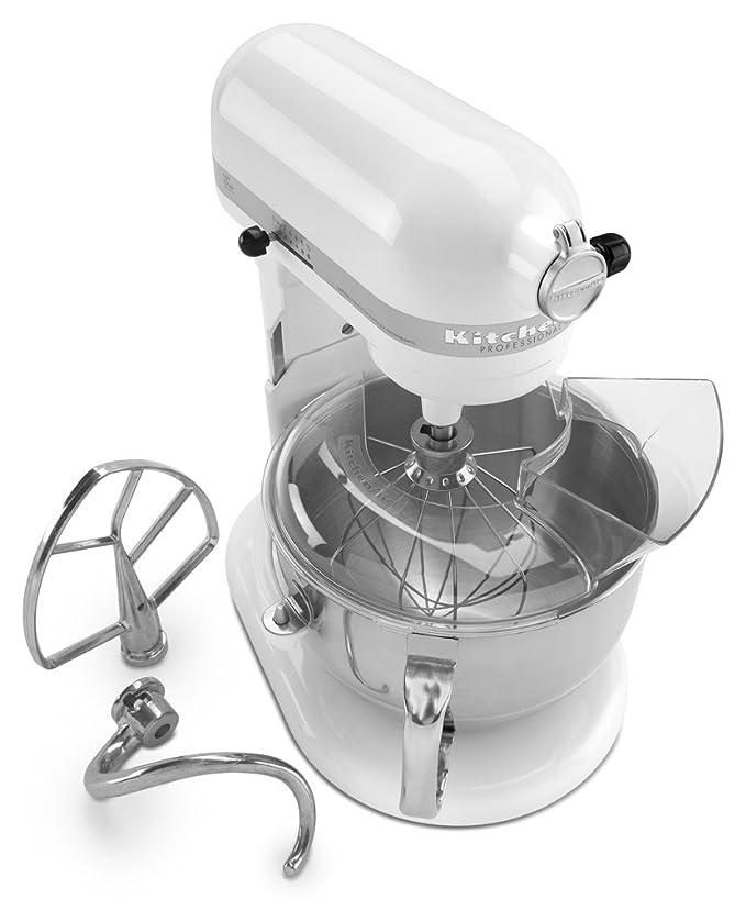 KitchenAid Professional 600 - Batidora (Batidora de varillas, 5,7 L, Mezcla, Puré, Remover, Blanco, Metal, Acero inoxidable): Amazon.es: Hogar