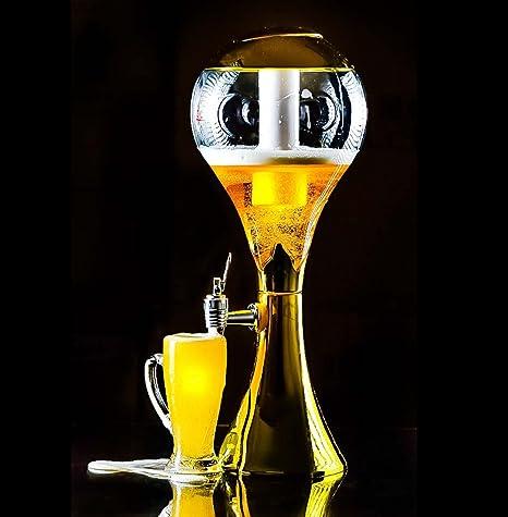 Trofeo de oro 3litre luz hasta cerveza dispensador de torre para sports-bars