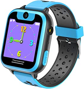 Themoemoe Smart Watch for Kids, Game Watch for Kids, Kids Smartwatch, Smart Watch with Camera, for Girls Boy, 1.44 inch Touch Screen Games Smartswatch with Calls Digital Camera(Blue)