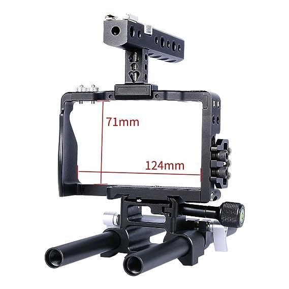Kit de jaula de cámara para Sony A6000 A6300 A6500 - PULUZ CNC de ...