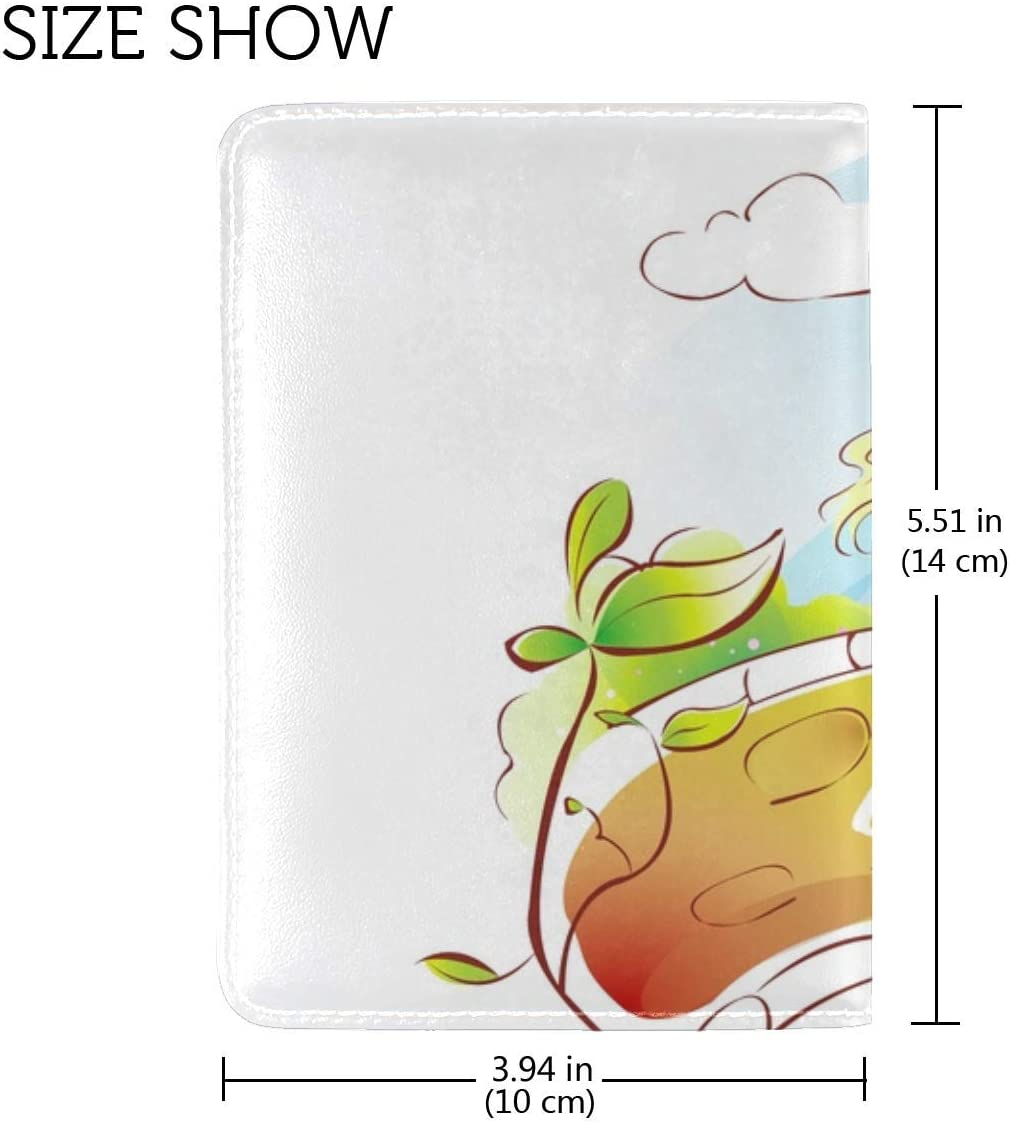 JiaoL Couple Love Trees Kiss Leather Passport Holder Cover Case Travel One Pocket