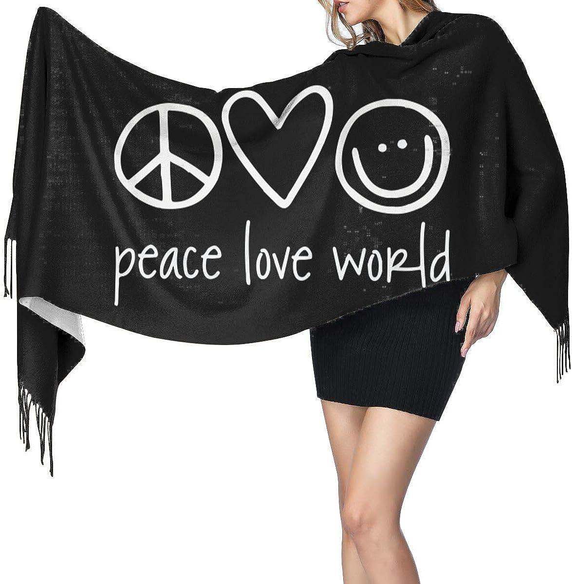 Peace Love World Womens Cashmere Shawl Warm Scarf Neckerchief