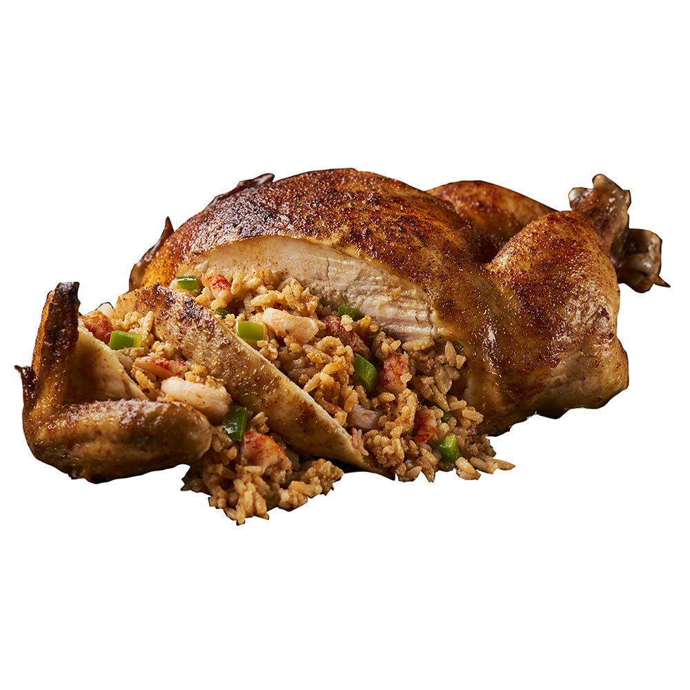 Cajun Chicken partially deboned stuffed with Legendary New Orleans Shrimp and crawfish Etouffee. Frozen chicken, ready to bake, perfectly seasoned, filled with Louisiana Crawfish & Gulf Shrimp. 2 Pack