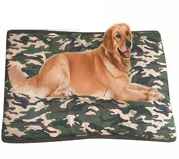 635 Cama para Perros Gran Camuflaje Cuatro Estaciones se Pueden Utilizar para Resistir la Suciedad y mordida del rasgón fácil Limpiar Perro Mat (Camuflaje ...