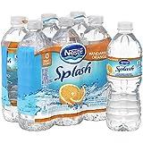 NESTLE SPLASH Water Beverages with Natural Fruit Flavors, Mandarin Orange 16.9-ounce plastic bottles (Pack of 6)