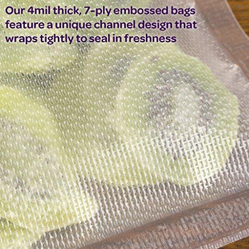 FoodVacBags 4 Piece Commercial Vacuum Sealer Rolls