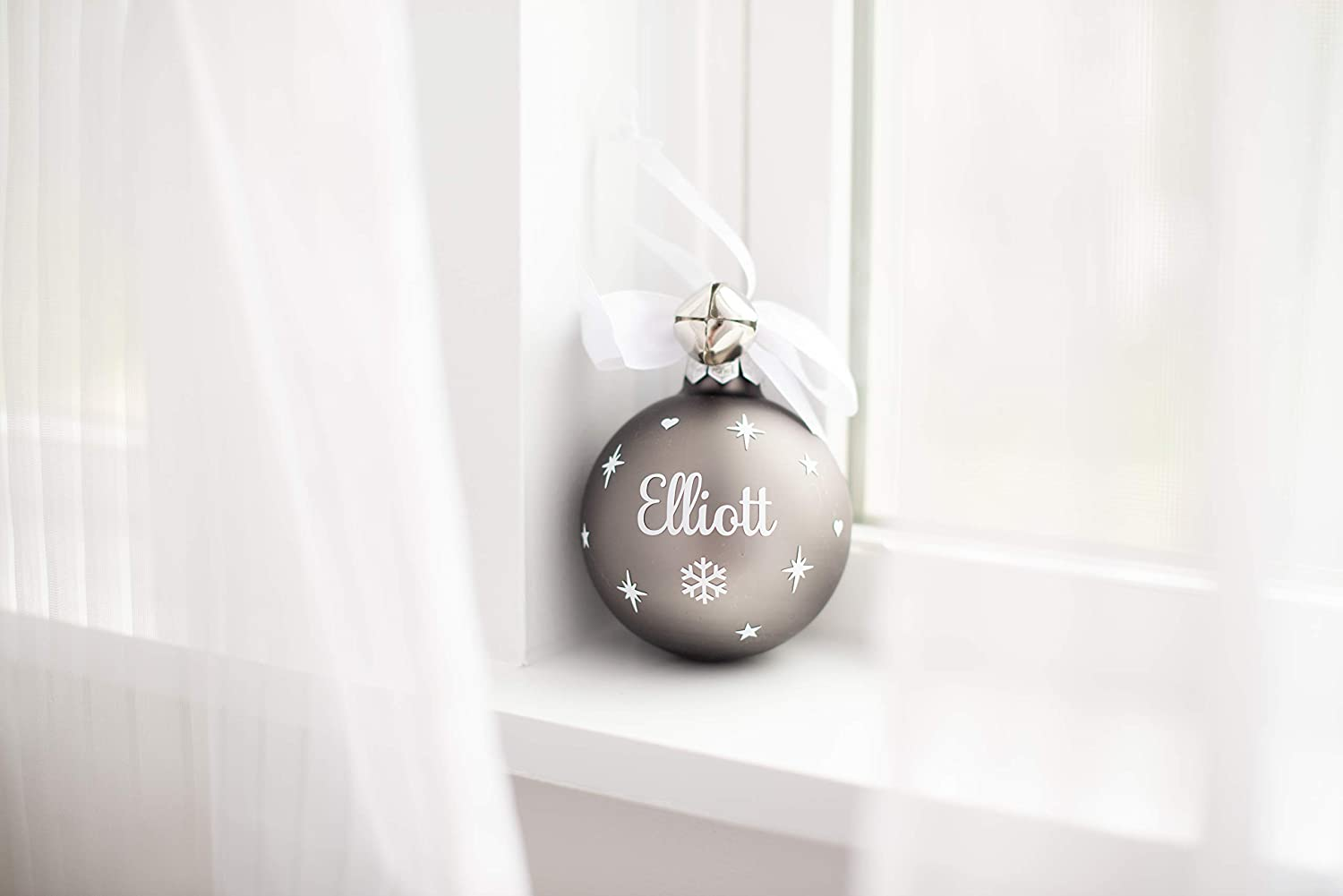 Christmas ball personalised name my first christmas with your photo