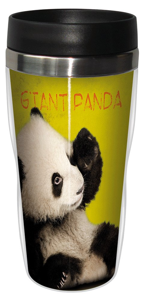 Giant Panda Travel Mug, Stainless Lined Coffee Tumbler, 16-Ounce - Eric Isselee - Cute Gift for Panda Lovers - Tree-Free Greetings 25799 by Tree-Free Greetings (Image #1)