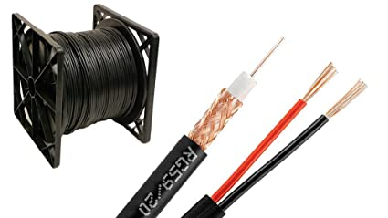 Coaxial 1000FT 500FT / White Or Black/Bulk Siamese RG59/U Cable Wire CCTV