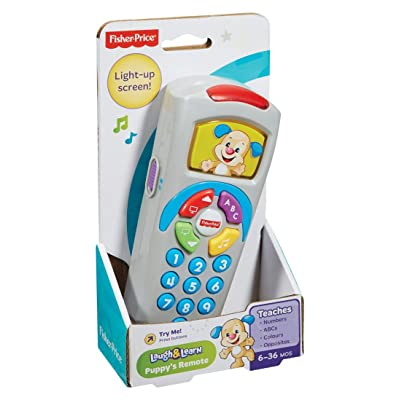 Fisher-Price 887961256321 Laugh and Learn Puppy's Remote, Electronic Educational Toddler Toy with Music, Lights, Colours and Phrases, Suitable for 6 Months Plus : Baby