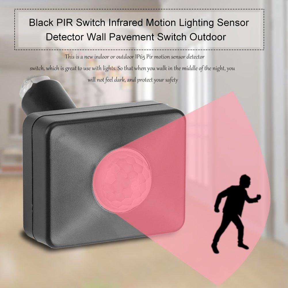 Conmutador de Interruptor de Pared Infrarrojo Sensor de Movimiento del interruptor de PIR al Aire Libre, Negro: Amazon.es: Bricolaje y herramientas
