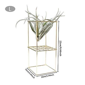 iBaste Blumenständer Doppelschicht Pflanzenständer aus Metall ...