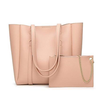 dd7e57059f Amazon.com  Lxf20 Female Bag PU Handbag Solid Color Shoulder Bag ...