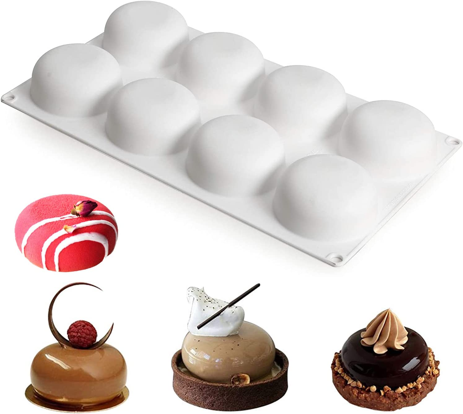 3D Silicone Mould Bakeware Pan Mold Baking Cupcake Mousse Chocolate Candy Soap