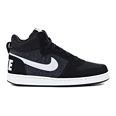sneakers for cheap e4674 3508d Image Unavailable. Image not available for. Color  Nike 918340-007  Kids  Black White Court Borough Mid SE Sneakers ...
