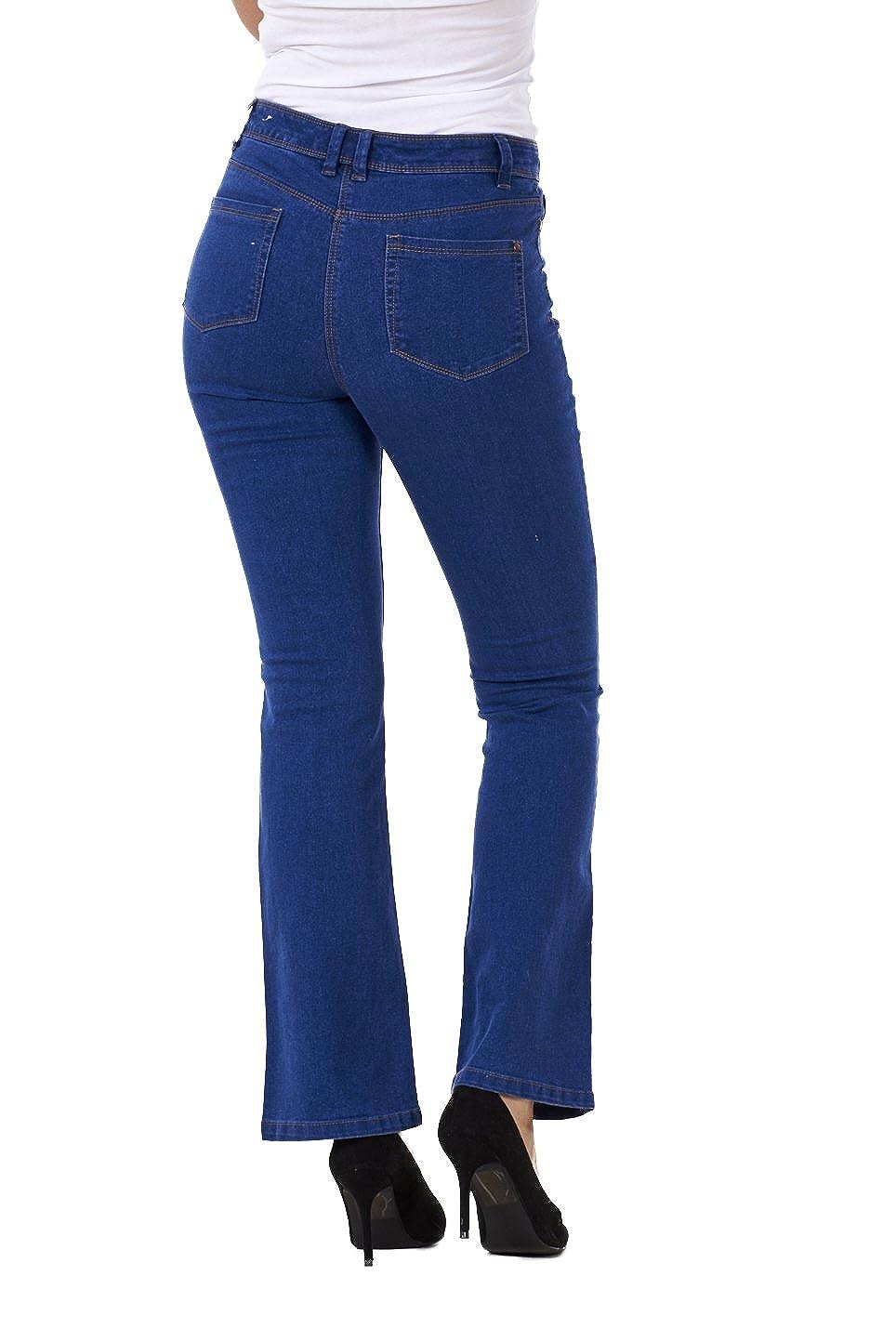 Pantalones vaqueros para mujer - Bajo de campana - Azul - EU ...