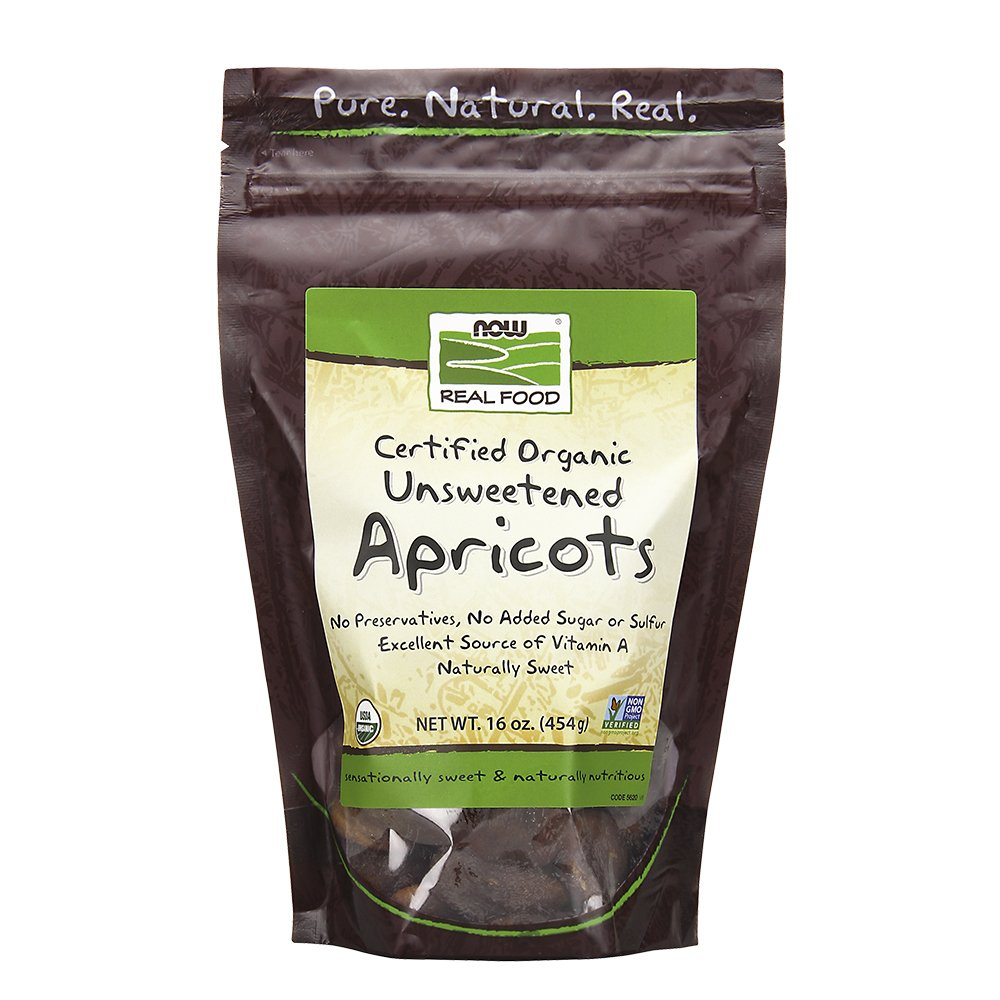 Now Foods Organic Apricots Unsweet/Unsulfur, 1-Pound