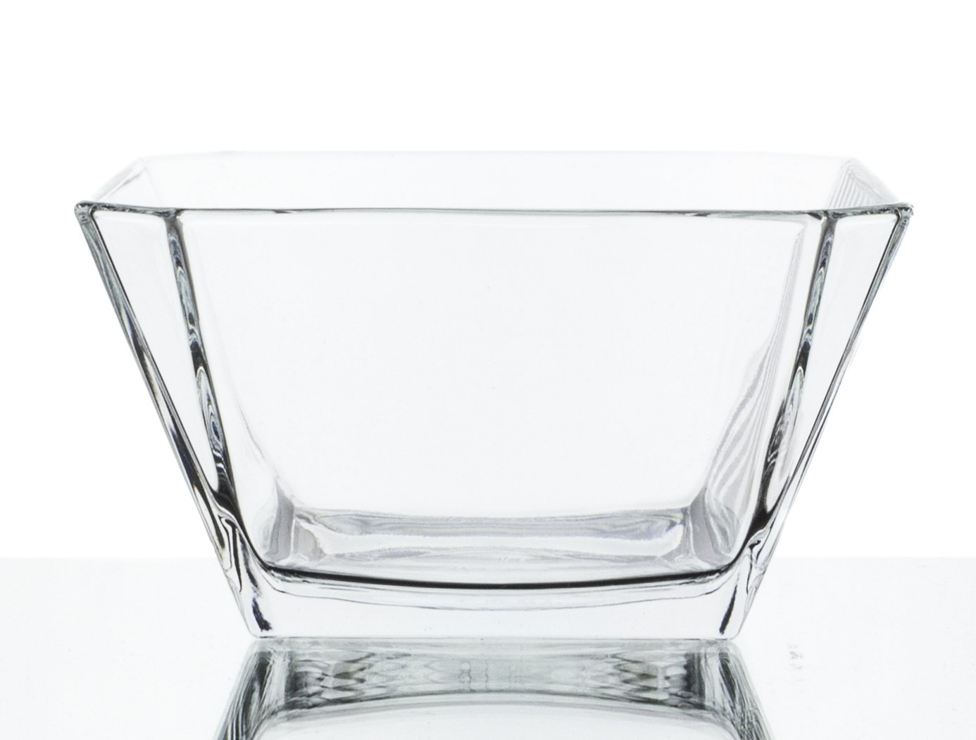 London Clear Glass Mini Dip/Dessert Bowls - Set of 6, 10 Ounce Red Co. 4521