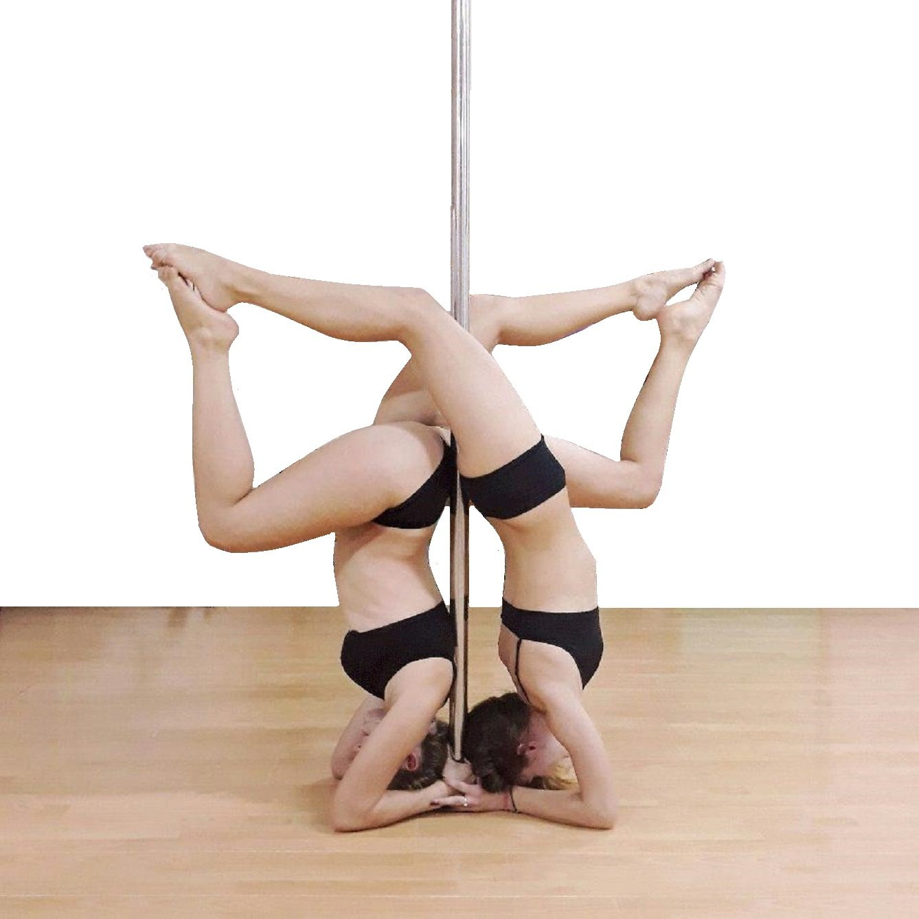 X-Dance 50mm Gold Chrome 9Ft Dance Pole Portable Fitness Exercise Exotic Strip and Spin + Bag by X-Dance (Image #3)