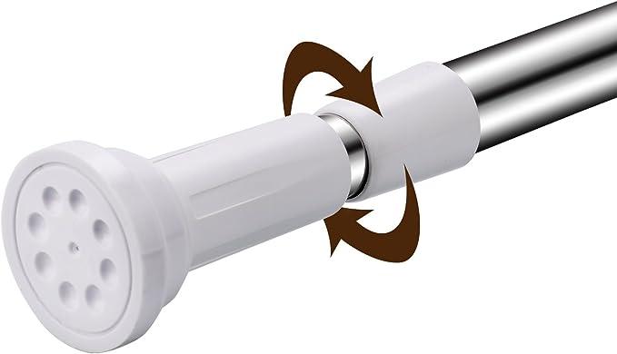 Duschvorhangstange ohne Bohren Teleskopstange Edelstahl Duschstange Klemmstange