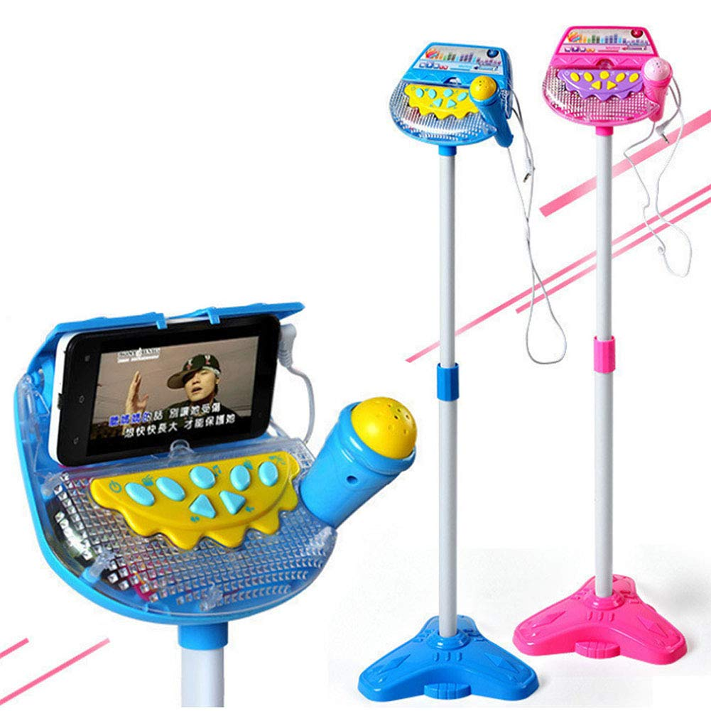 Meiyiu Kids Standing Microphone Musical Toy Stand Up Karaoke Machine Sing Toy with MP3 Microphones Disco Flashing Lights Kid Funny by Meiyiu (Image #1)