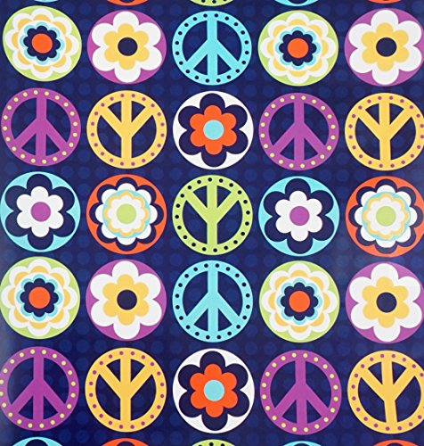 Peace Love Happiness Gift Wrap Roll with Gift Tags - 24