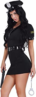 iiniim Cop Police Lady Woman Costume Role Play Dressing Up Uniform Complete Outfit Fancy Dress with  sc 1 st  Amazon UK & Sexy Cop Police Lady Women Costume Police Women Dress Police Role ...