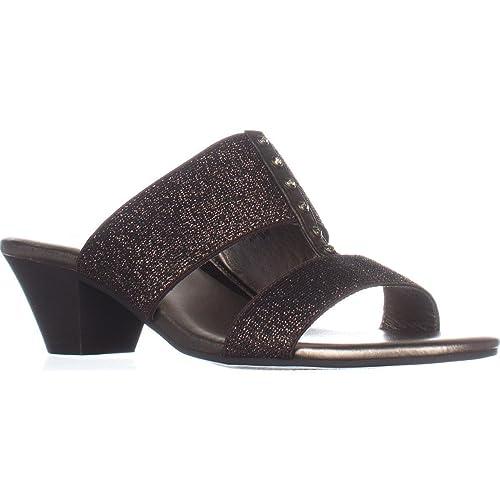 0d4106f7f1f8f Amazon.com | Karen Scott Womens Zarena Fabric Open Toe Casual Slide ...
