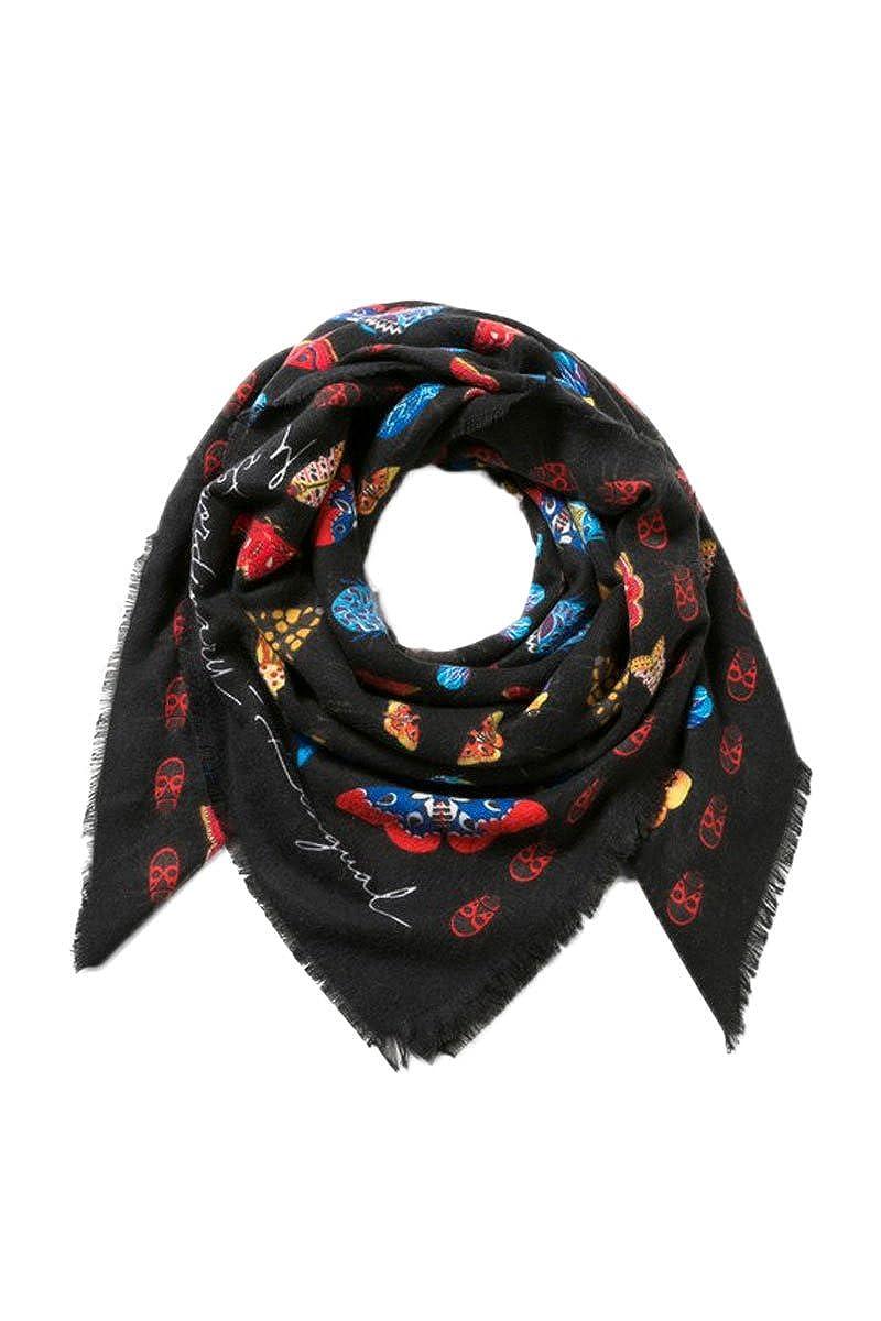 DESIGUAL PASHMINA FOULARD FEMME WINTER FLORAL BIG 17WAWFG9 noir  Amazon.fr   Vêtements et accessoires 3aab3dfd981