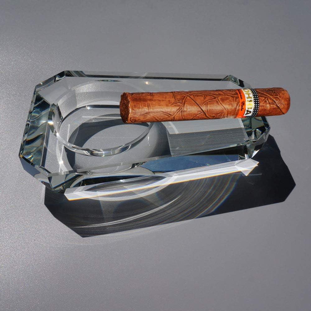 DGDHSIKG Cenicero Cenicero de Cristal de Puros cubanos Regalo práctico para Extranjeros Cenicero Transparente, 1