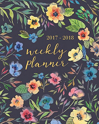 2017 - 2018 Weekly Planner: Academic Planner Weekly And Monthly: Calendar Schedule Organizer Authored by Planners and Calendar Notebooks