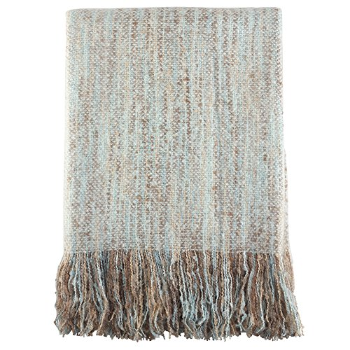 (Fennco Styles Faux Mohair Shabby Chic Throw Blanket, 50