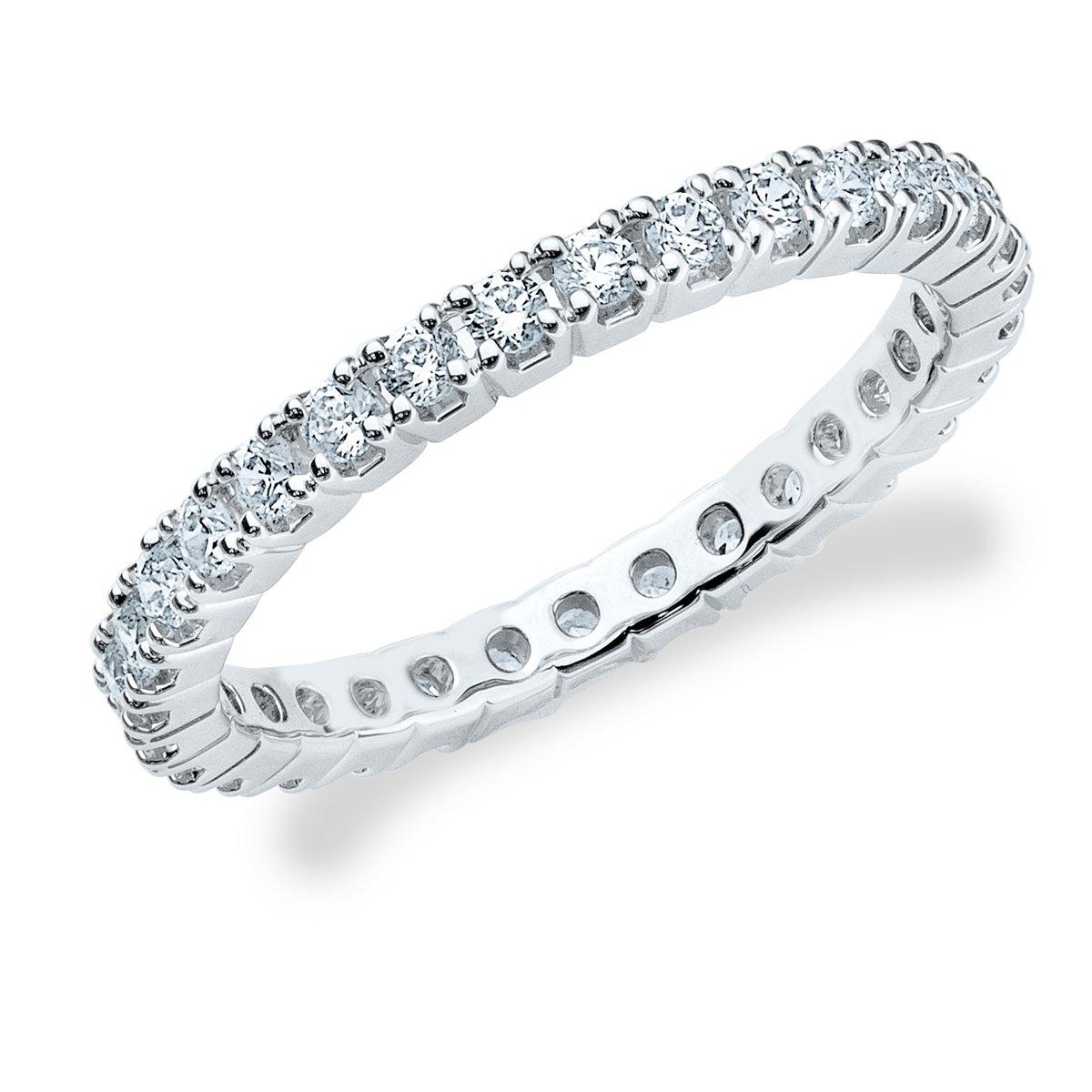 Platinum Diamond Split Prong Set Eternity Band (1/2 cttw, F-G Color, VVS1-VVS2 Clarity) Size 5