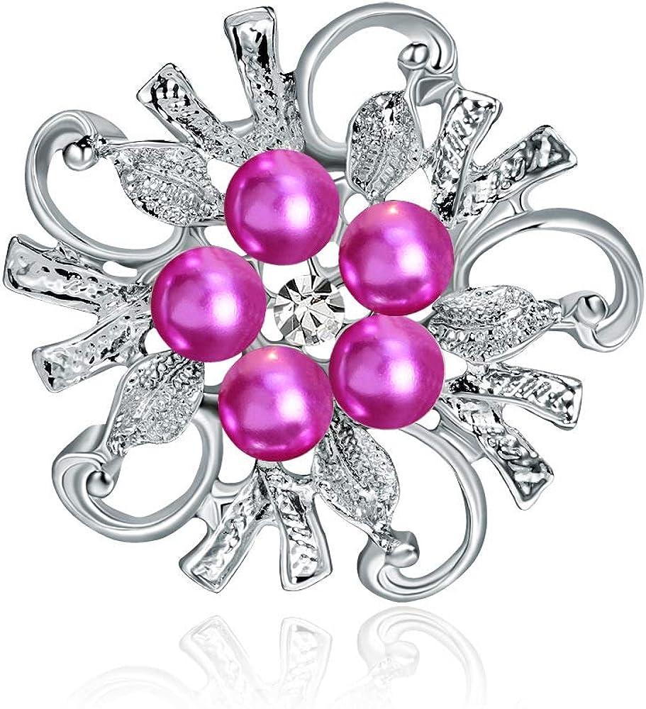 Scarf Brooch Flower and Mountain Camellia Chest Needle YYOGG Diamond