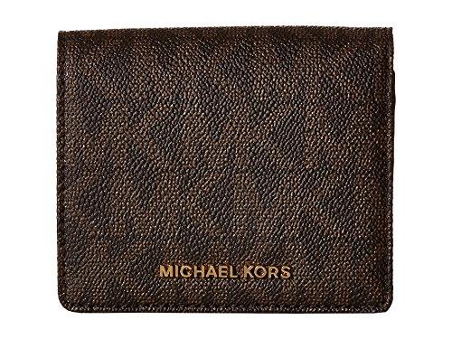 Michael Michael Kors Womens Mk Jet Set Travel Signature Leather Wallet
