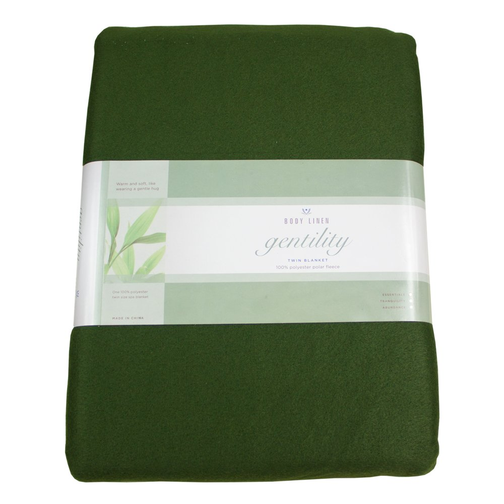 amazoncom  gentility© polar fleece massage table blanket forest  - amazoncom  gentility© polar fleece massage table blanket forest green lightweight fleece throw  beauty