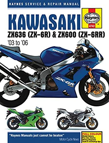 kawasaki zx636 zx 6r zx600 zx 6rr 03 to 06 haynes service rh amazon com