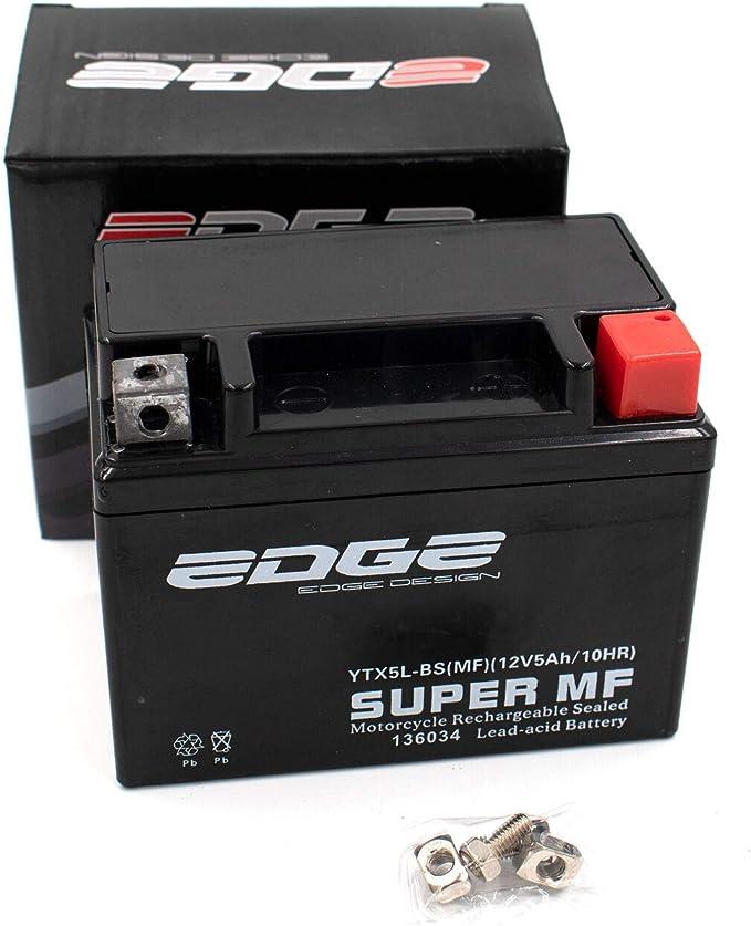 Roller Batterie 12v 5ah Wartungsfrei Als Verstärkte Batterie Passend Auch Für 12v 4ah Yb4l B Passend Für Viele Roller Auto