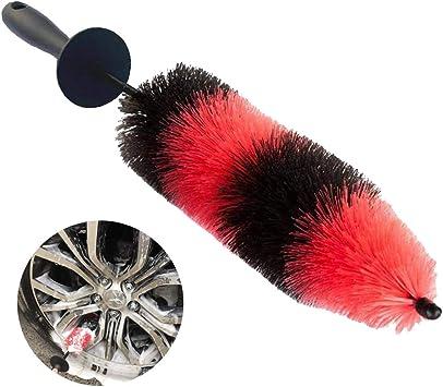 HITTIME 17 Wheel Brush Easy Reach Tire and RIM Detailing Brush Soft Master Bristle Clean Wash