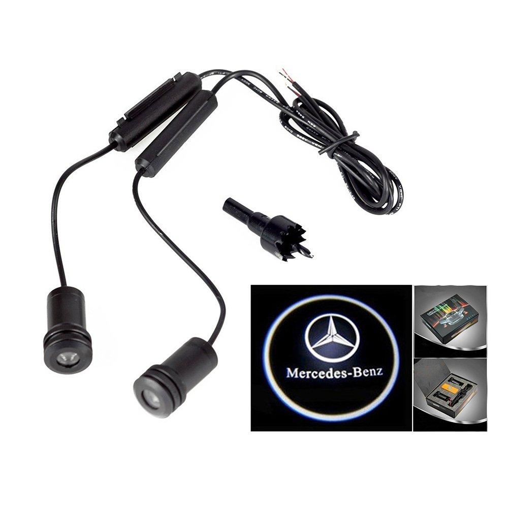 Lupar 5w 4th Generation 2x LED Car Door Laser Projector Ghost Shadow Step Light Logo Fits:BENZ